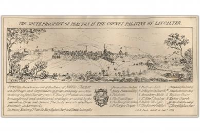 9a-The-South-Prospect-of-Preston-Bucks-Map-c.1728