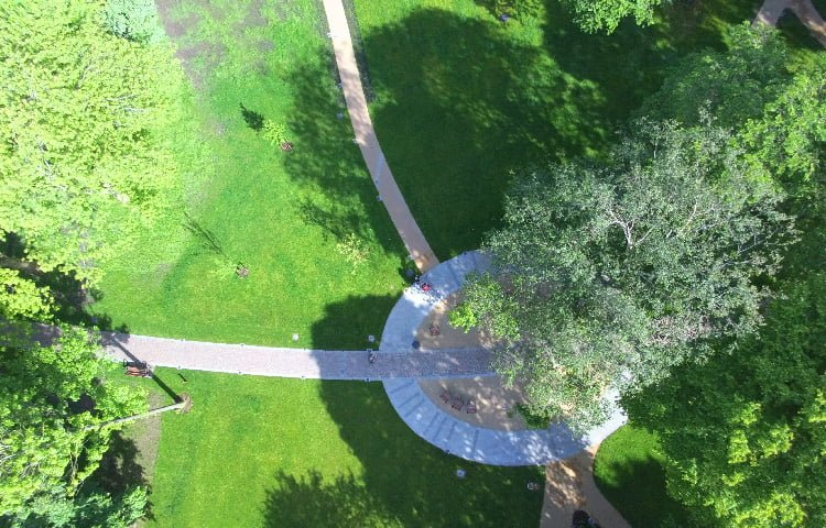 Winckley Square Gardens from above