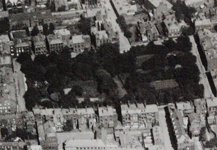 Winckley Square Gardens aerial view 1926