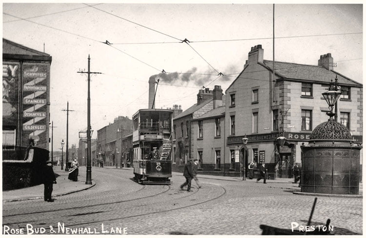 Rosebud Inn corner at the of London Road and Newhall Lane Preston