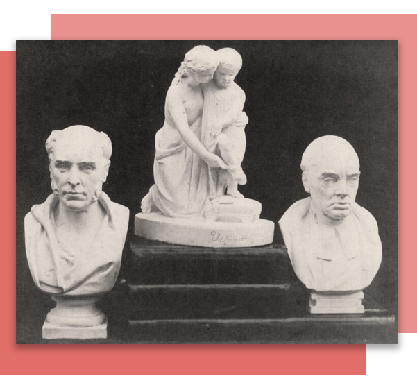 Three Thomas Duckett maquettes: photo Robert Pateson 1865: Preston Digital Archive