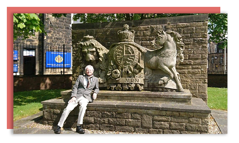 When the Barracks' entrance was reconfigured the Coat of Arms was preserved in stonework outside the entrance: Peter Wilkinson FoWS; photo by Dot Wilkinson.