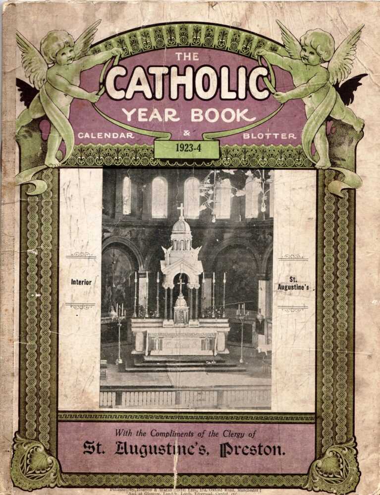 St Augustine's Altar Cover of 1923-24 calendar.