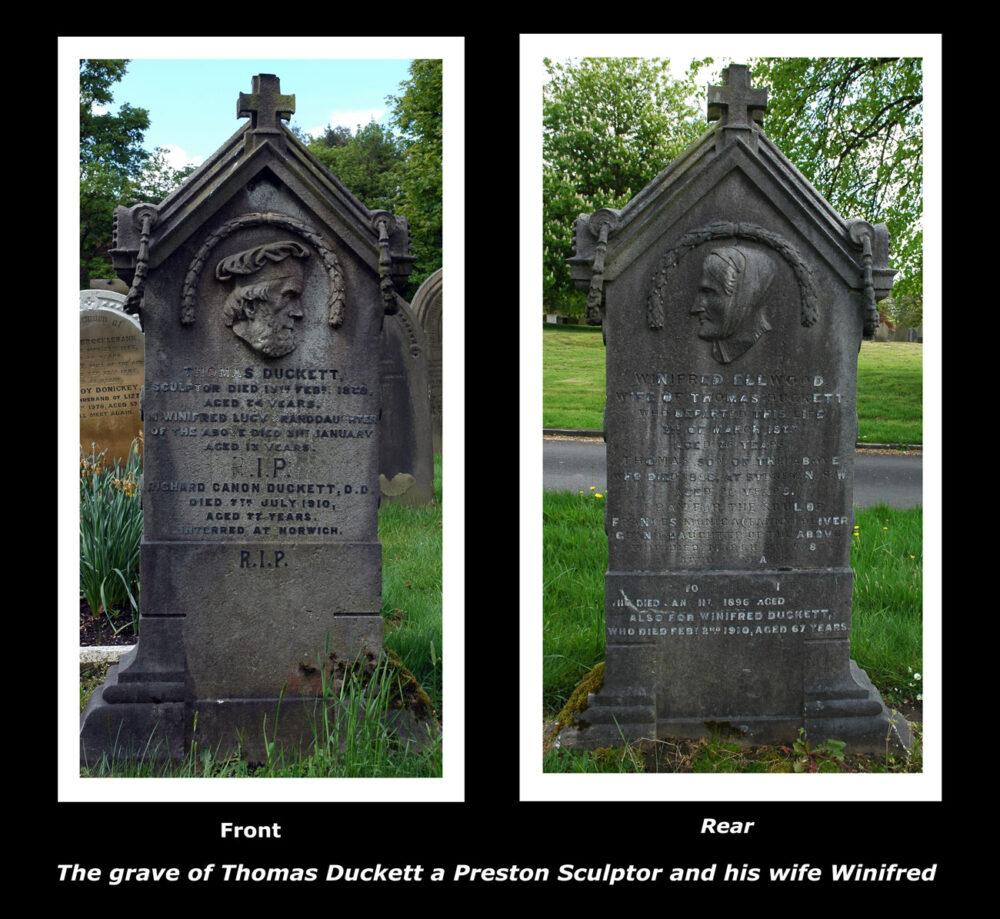 Duckett Gravestone, Preston Cemetery: Photo Meanderman, Preston Digital Archive