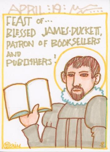 Blessed James Duckett-Saint of the Day-April 19th Patron Saint of booksellers