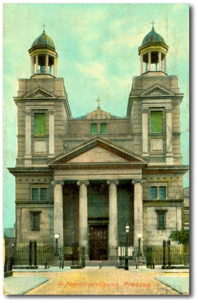 St Augustine's of Canterbury, Frenchwood, Preston. Tinted postcard: Preston Digital Archive.