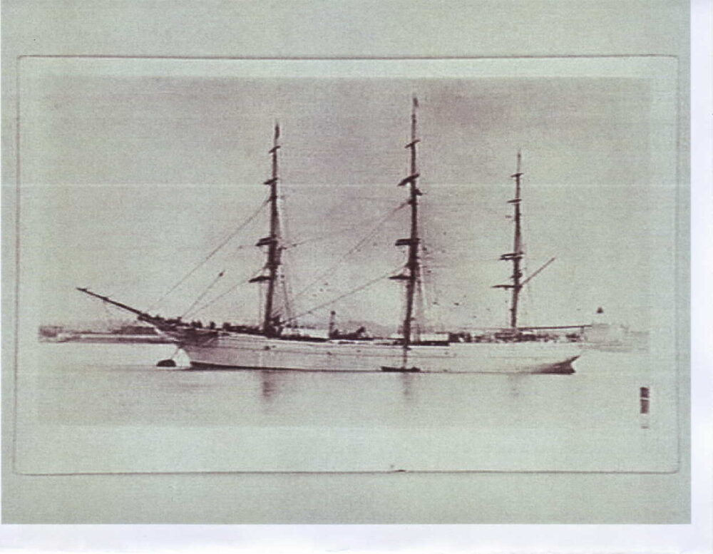 Clipper cargo ship on which Thomas Duckett Jnr. sailed to Melbourne.