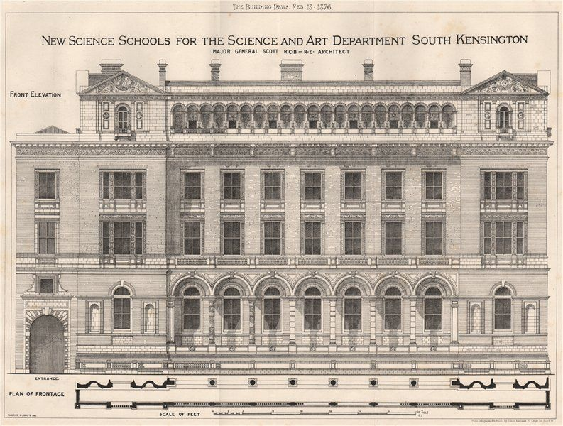 New Science Schools for Science and Art Department South Kensington