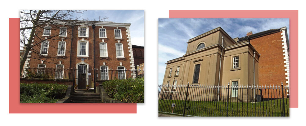 St Peter and St Paul Church forms an integral unit with Giffard House. The Sacred Heart Chapel was built in 1901 as a memorial to Canon George Duckett. http://www.historywebsite.co.uk/listed/giffardhouse.htm